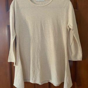 cut•loose  cream tunic shirt